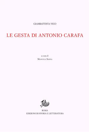 copertina di Le gesta di Antonio Carafa