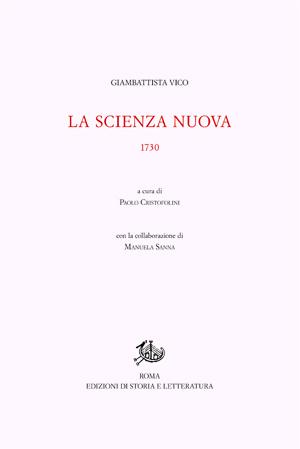copertina di La Scienza nuova 1730