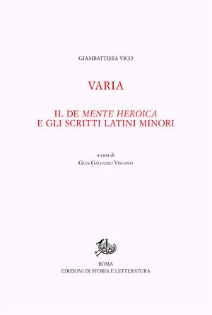 copertina di Varia