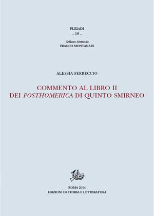 copertina di Commento al libro II dei Posthomerica di Quinto Smirneo