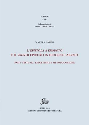 copertina di L'Epistola a Erodoto e il Bios di Epicuro in Diogene Laerzio