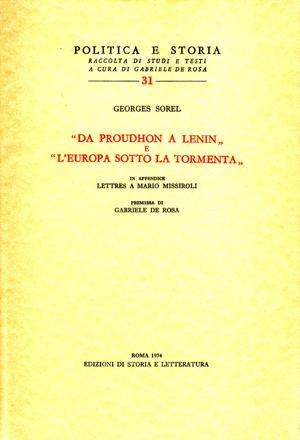 copertina di «Da Proudhon a Lenin» e «L'Europa sotto la tormenta»