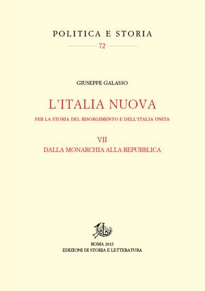 copertina di L'Italia nuova. Per la storia del Risorgimento e dell'Italia unita. VII