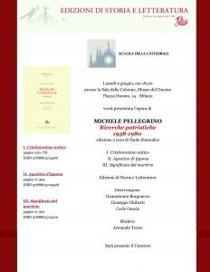 Le Ricerche patristiche di Michele Pellegrino. Presentazione al Museo del Duomo
