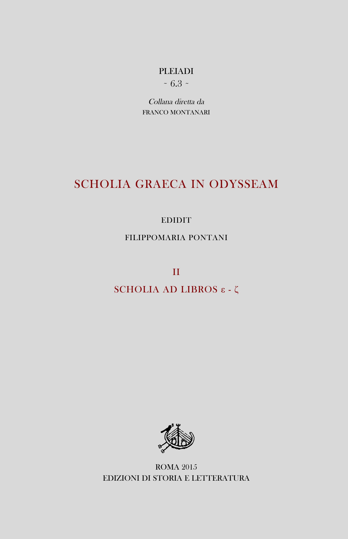 copertina di Scholia graeca in Odysseam. III