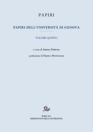 copertina di Papiri dell'Università di Genova