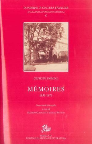 copertina di Mémoires