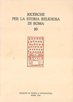 copertina di Ricerche per la Storia Religiosa di Roma 10
