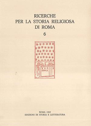copertina di Ricerche per la storia religiosa di Roma 6