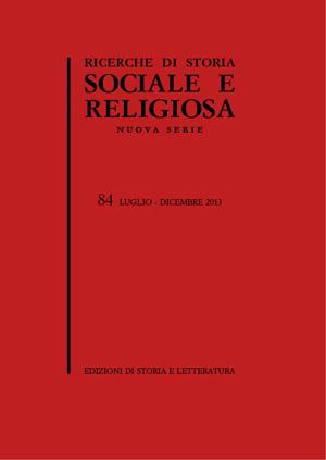 copertina di Ricerche di Storia Sociale e Religiosa, 84