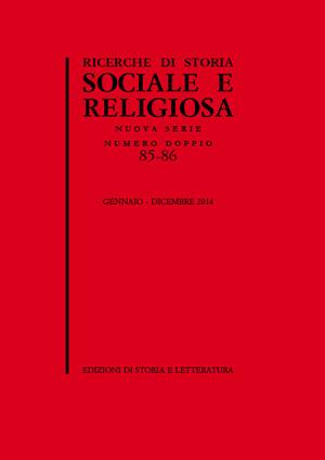 copertina di Ricerche di Storia Sociale e Religiosa, 85-86