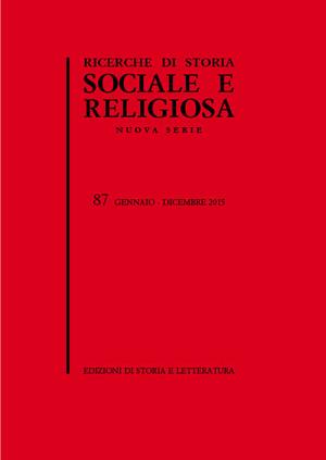 copertina di Ricerche di Storia Sociale e Religiosa, 87