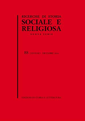 copertina di Ricerche di Storia Sociale e Religiosa, 88