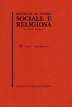 copertina di Ricerche di storia sociale e religiosa, 82