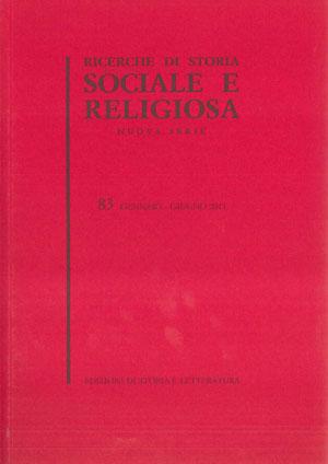 copertina di Ricerche di storia sociale e religiosa, 83