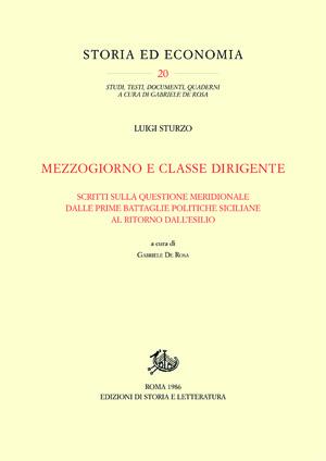 copertina di Mezzogiorno e classe dirigente