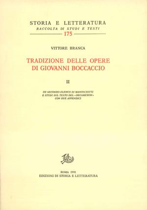 copertina di Tradizione delle opere di Giovanni Boccaccio. II