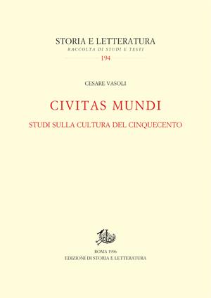 copertina di «Civitas Mundi»