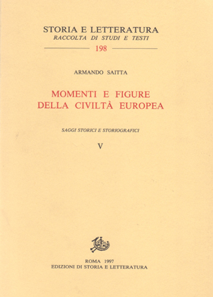 copertina di Momenti e figure della civiltà europea, vol. V