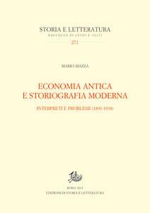 copertina di Economia antica e storiografia moderna