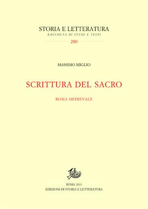 copertina di Scrittura del sacro