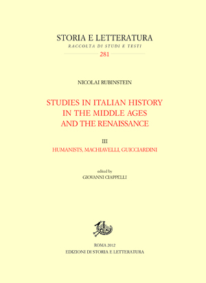 copertina di Studies in Italian History in the Middle Ages and the Renaissace. III.