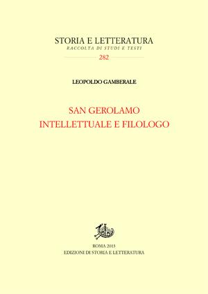 copertina di San Gerolamo intellettuale e filologo