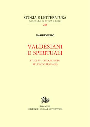 copertina di Valdesiani e spirituali