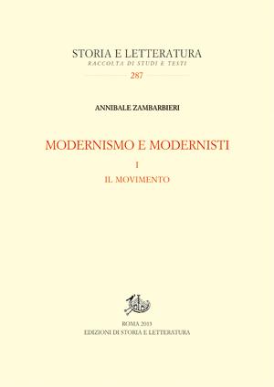 copertina di Modernismo e modernisti. I.
