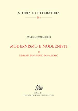 copertina di Modernismo e modernisti. II.