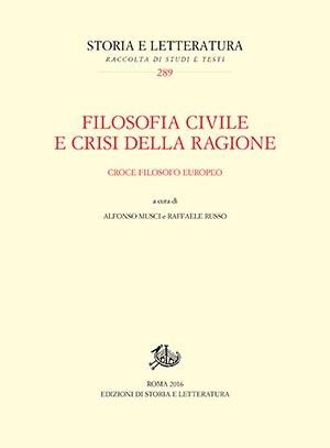 copertina di Filosofia civile e crisi della ragione
