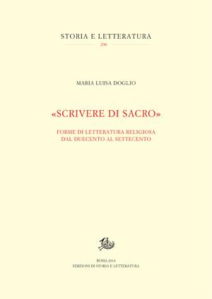 copertina di «Scrivere di sacro»