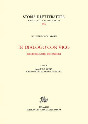 copertina di In dialogo con Vico