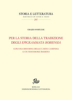 copertina di Per la storia della tradizione degli Epigrammata Bobiensia