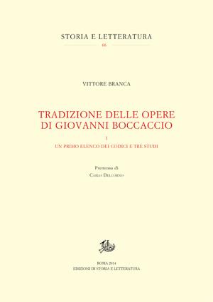 copertina di Tradizione delle opere di Giovanni Boccaccio. I