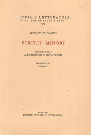 copertina di Scritti minori, I