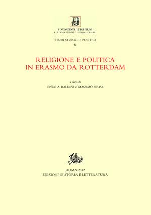 copertina di Religione e politica in Erasmo da Rotterdam