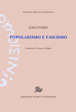 copertina di Popolarismo e fascismo