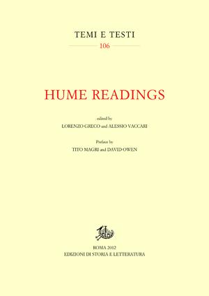 copertina di Hume Readings