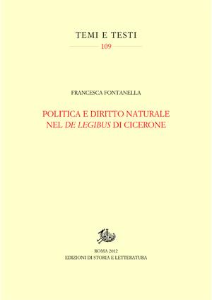 copertina di Politica e diritto naturale nel 'De legibus' di Cicerone