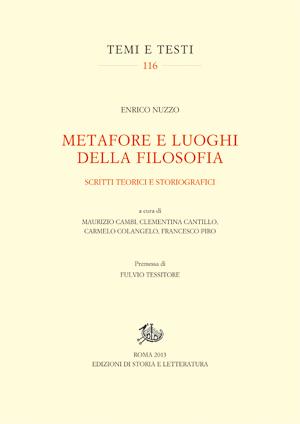 copertina di Metafore e luoghi della filosofia