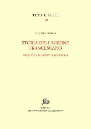 copertina di Storia dell'ordine francescano