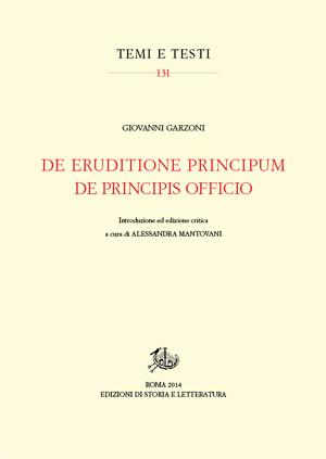 copertina di De eruditione principum – De principis officio