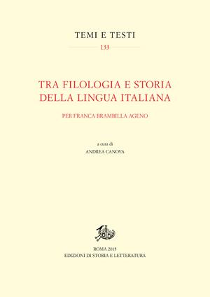 copertina di Tra filologia e storia della lingua italiana