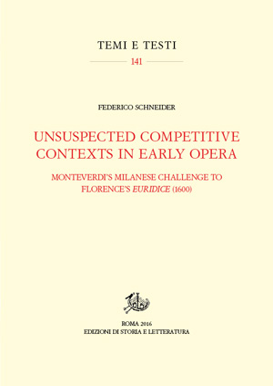 copertina di Unsuspected Competitive Contexts in Early Opera