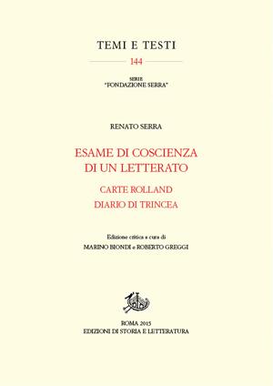 copertina di Esame di coscienza di un letterato