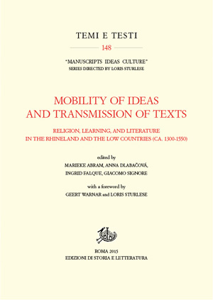 copertina di Mobility of Ideas and Transmission of Texts