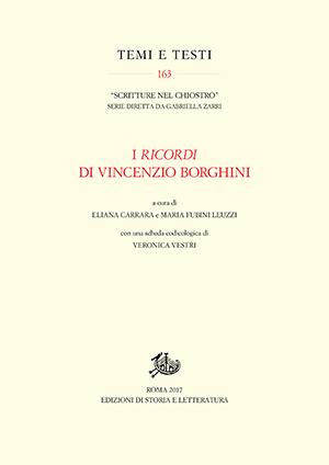 copertina di I Ricordi di Vincenzio Borghini