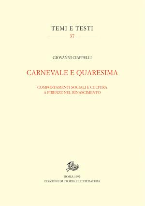 copertina di Carnevale e Quaresima
