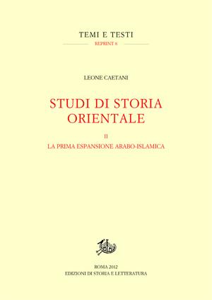 copertina di Studi di storia orientale. II.